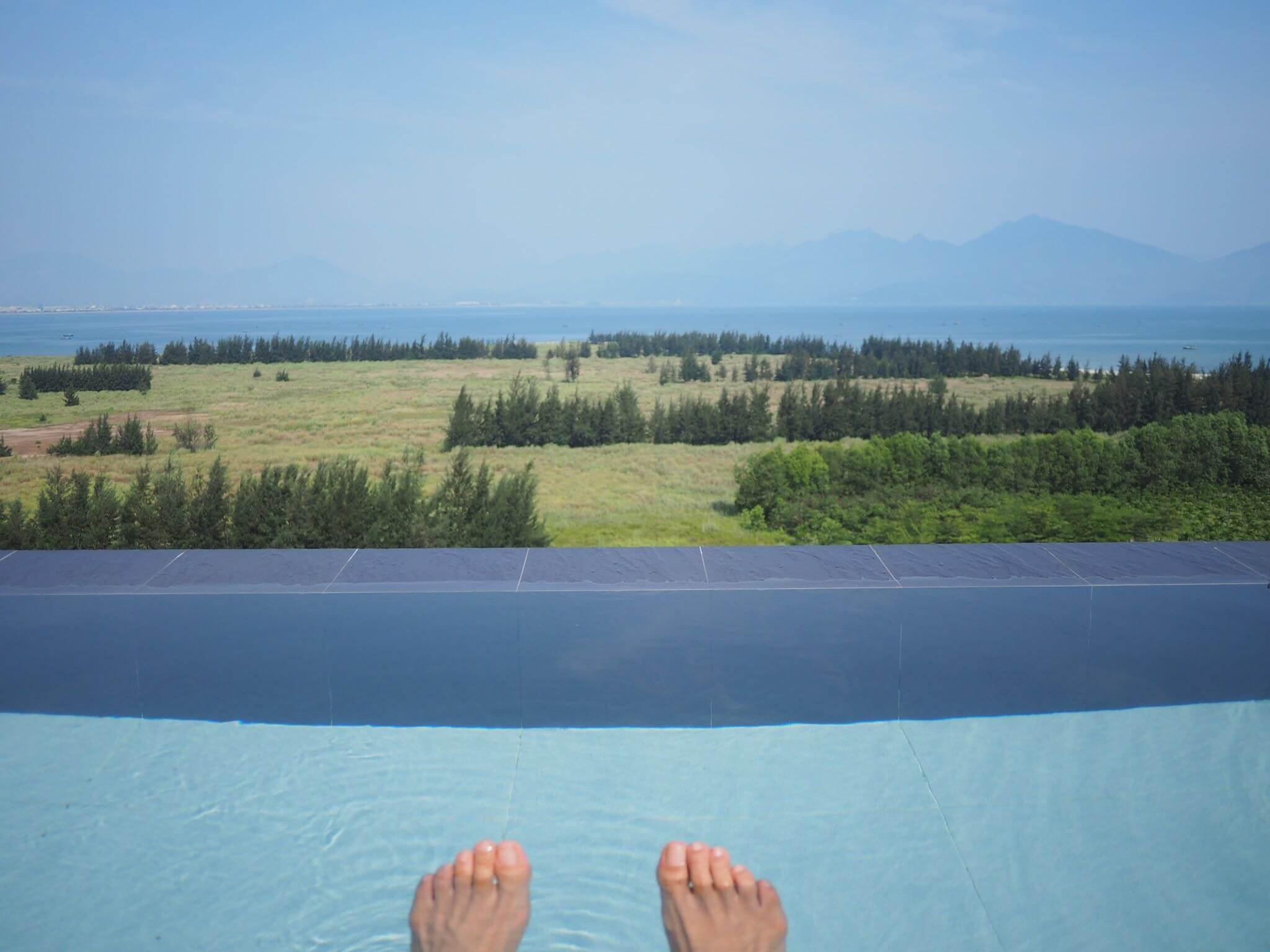 ダナン ホテル東屋 屋上の露天風呂のみの利用可能!最高の景色と圧倒的開放感が楽しめる!和定食もおすすめ
