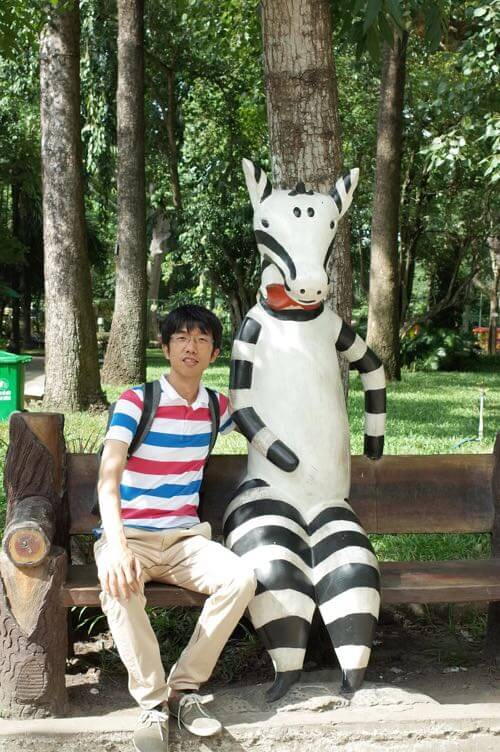 サイゴン動物公園のシマウマのオブジェ