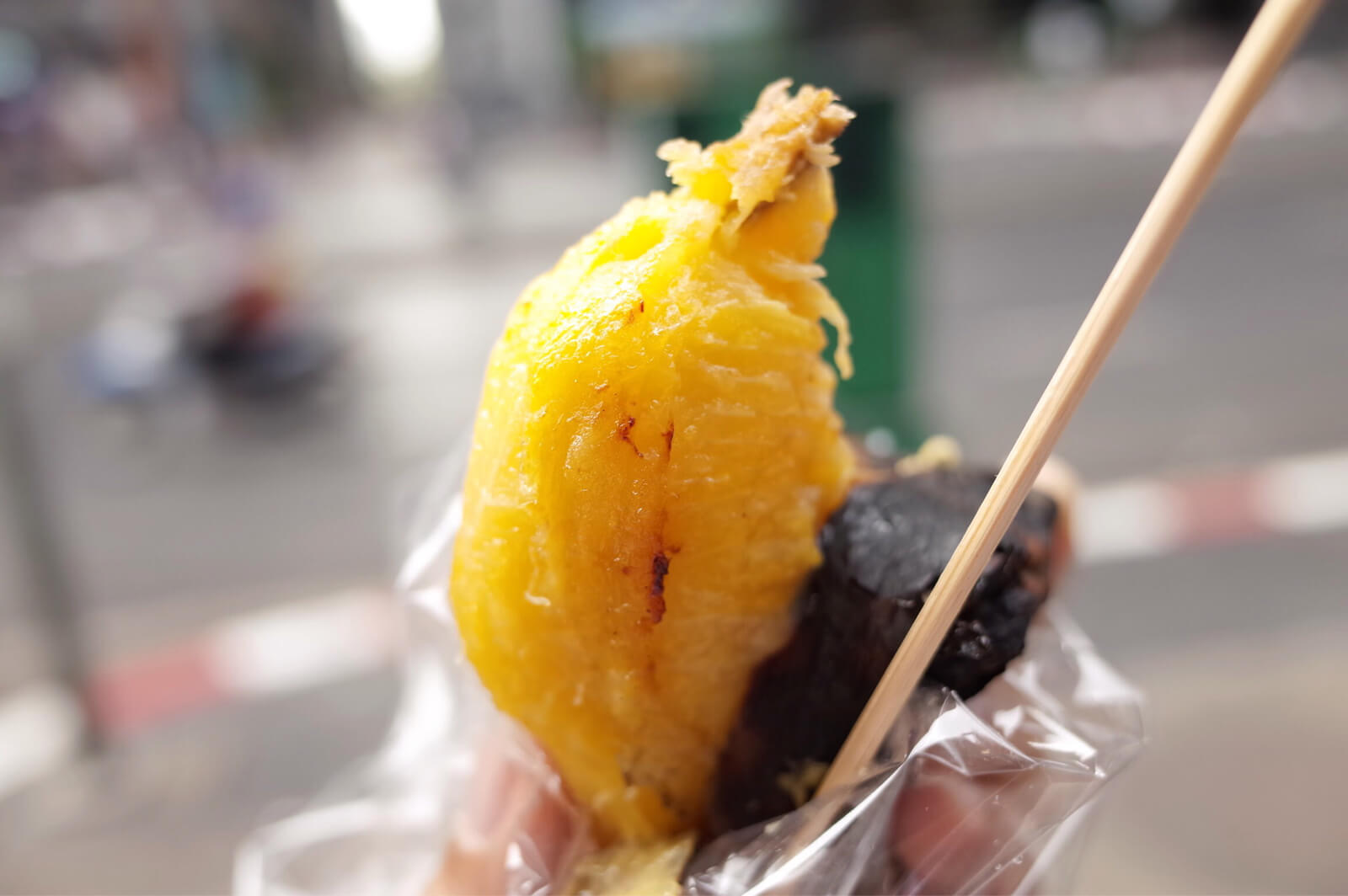 サラデーン駅周辺 焼きバナナ