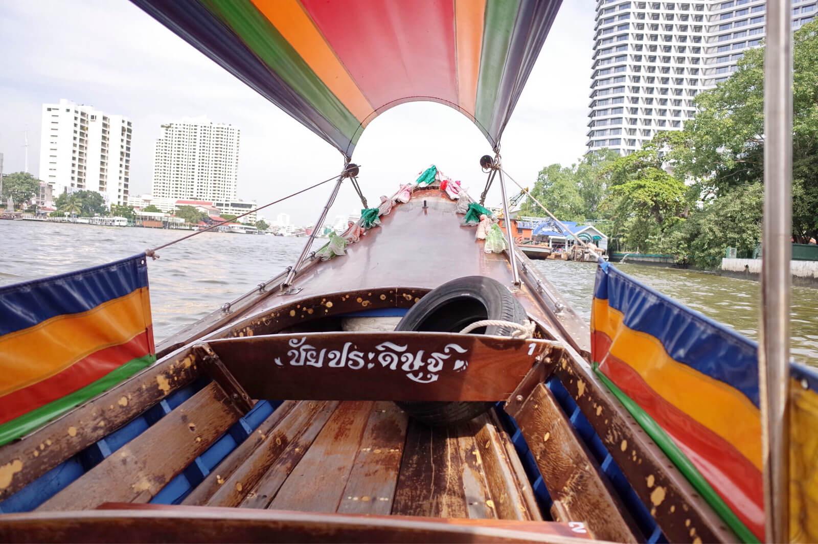 チャオプラヤー河 ボートツアー