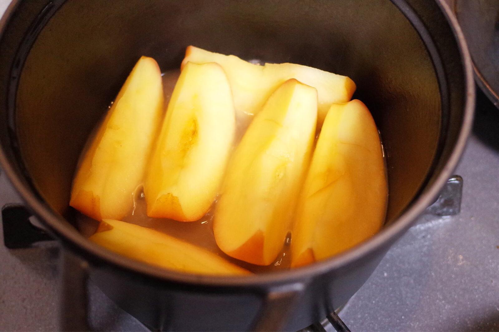 ストウブ STAUB 焼きリンゴ 途中