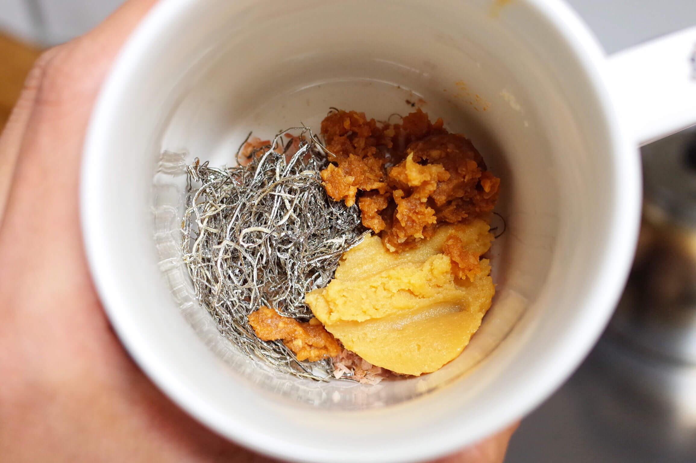乾物 レシピ | 乾物で作る爆速・簡単・激旨の豆乳(無調整)味噌汁!朝食にも夜食にもおすすめ!