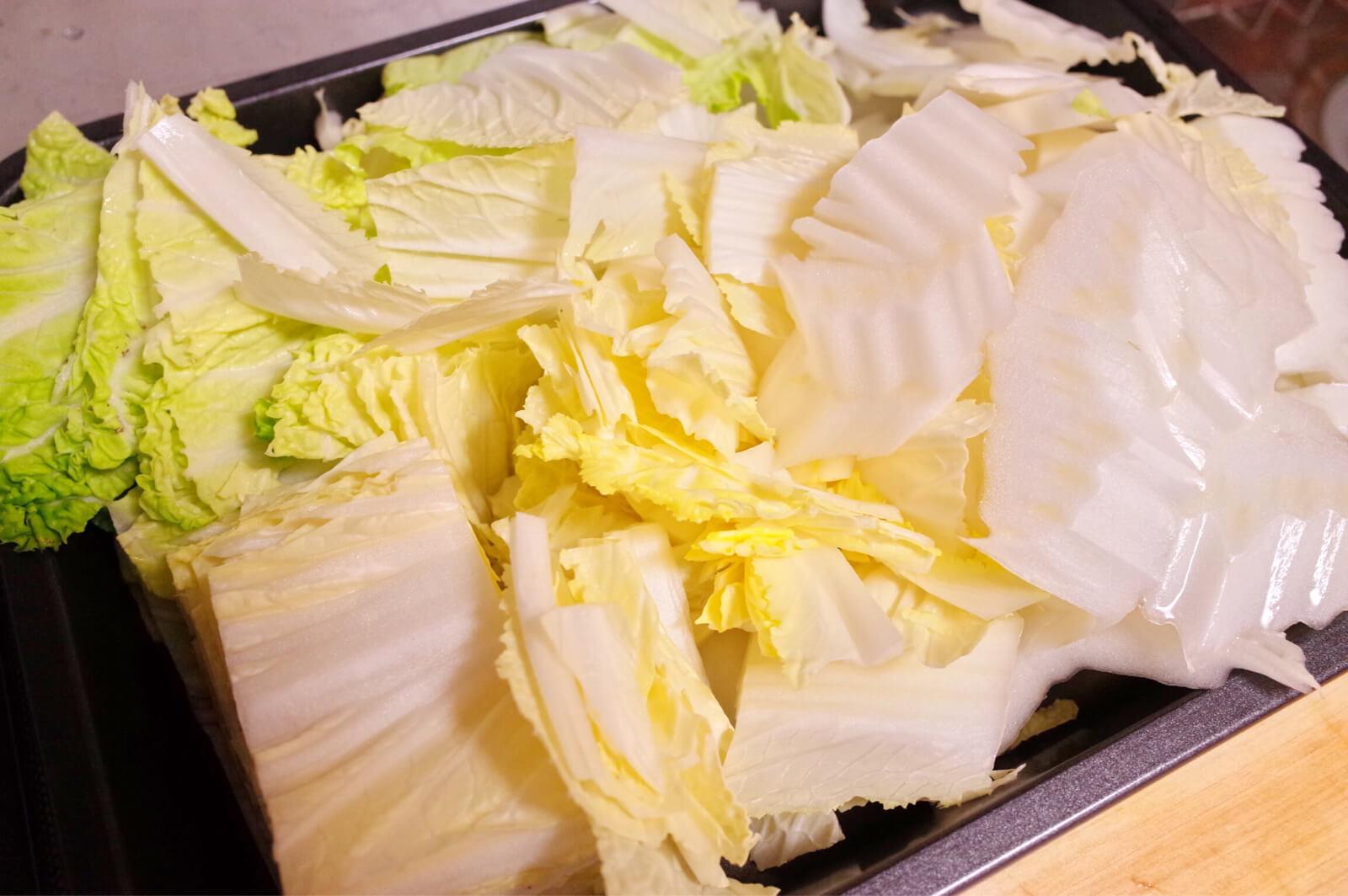 白菜 重ね煮 カット
