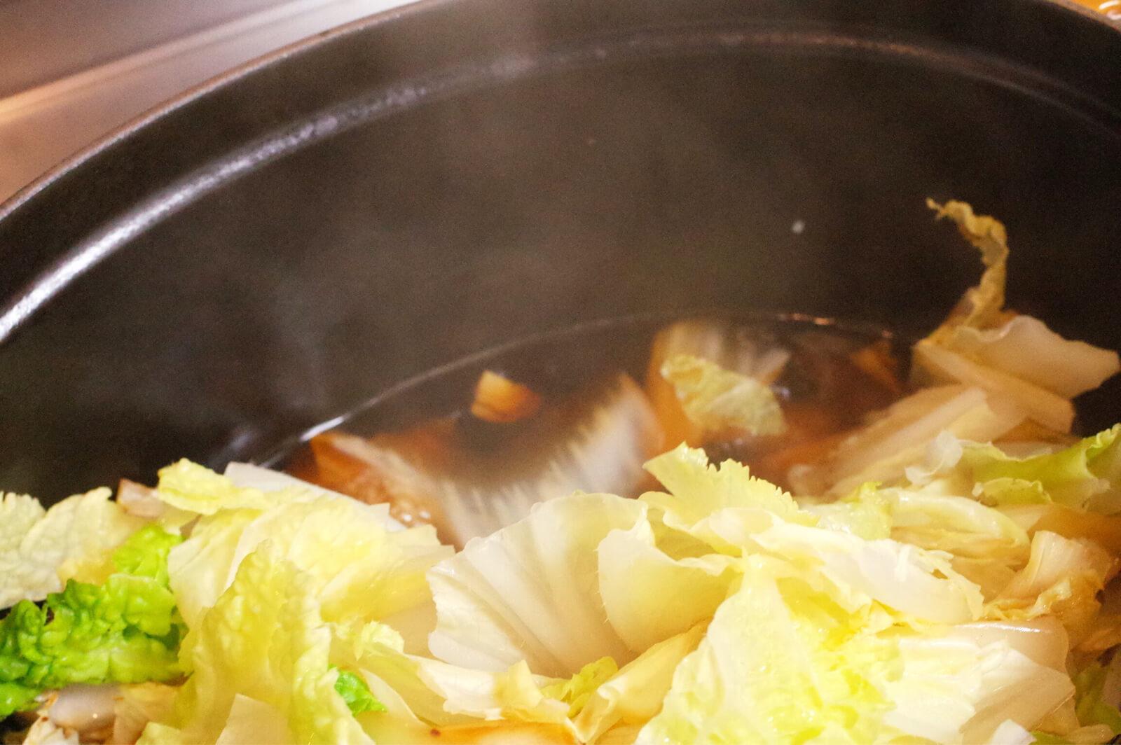 旬 白菜 重ね煮