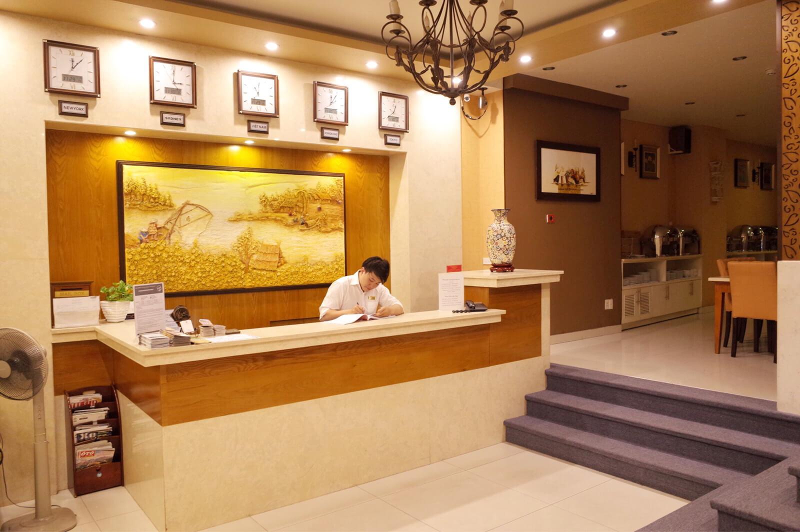 アジアンルビーセントラルホテル ホーチミン ロビー