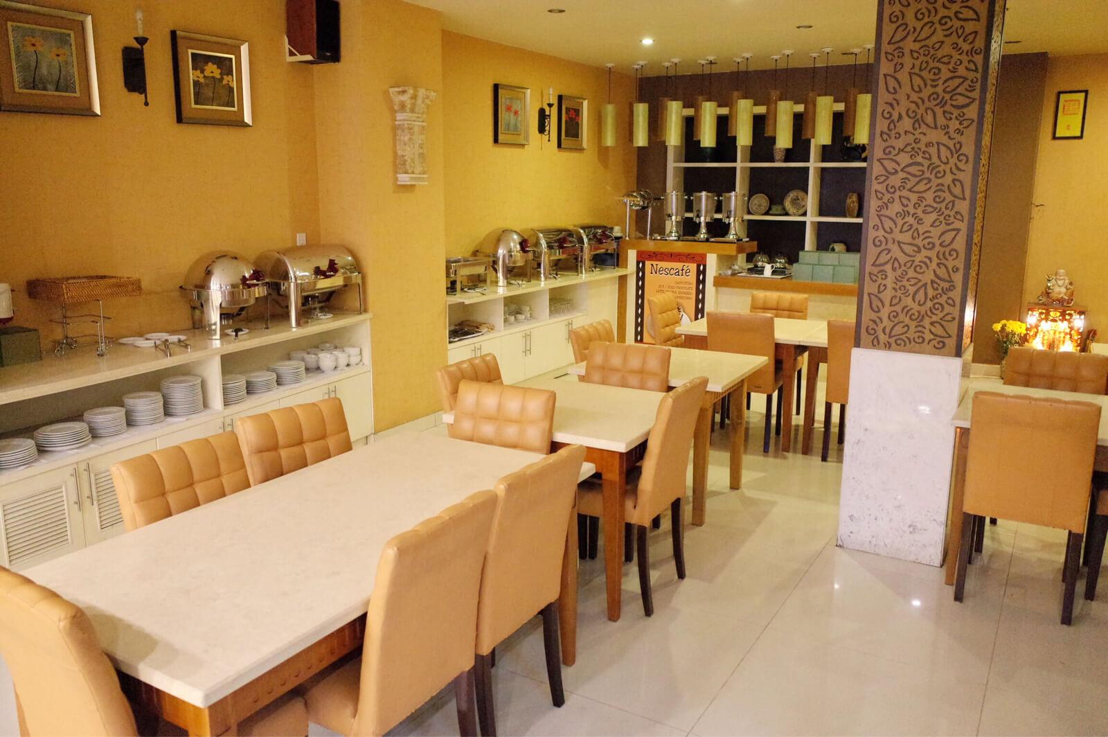 アジアンルビーセントラルホテル ホーチミン 食堂