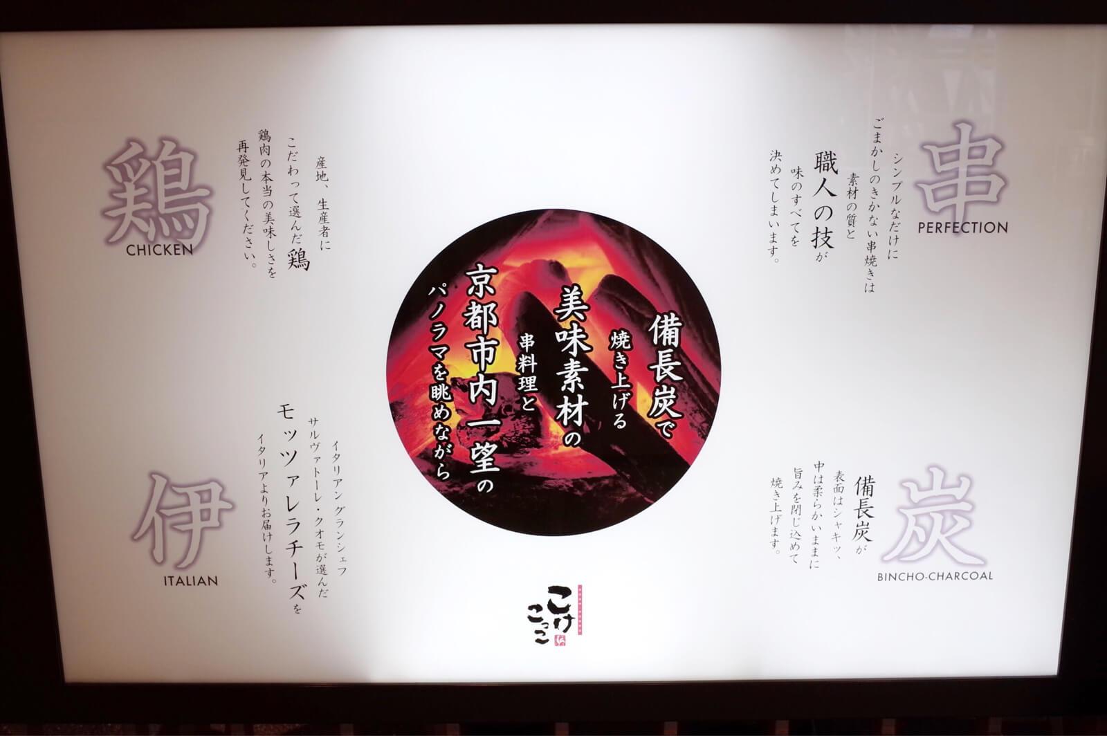 京都駅 伊勢丹 こけこっこ 看板