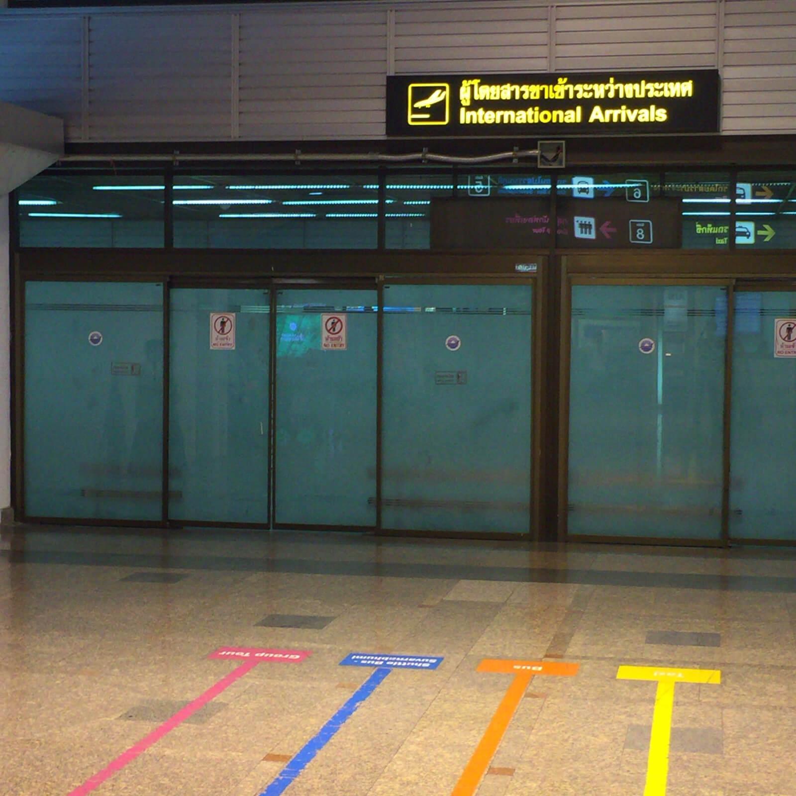 ドンムアン空港 到着口