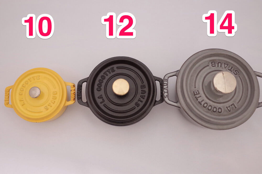 STAUB ストウブ ピコ・ココットラウンド 12cm 比較