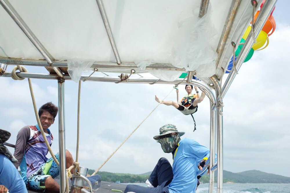 サメット島 パラセーリング