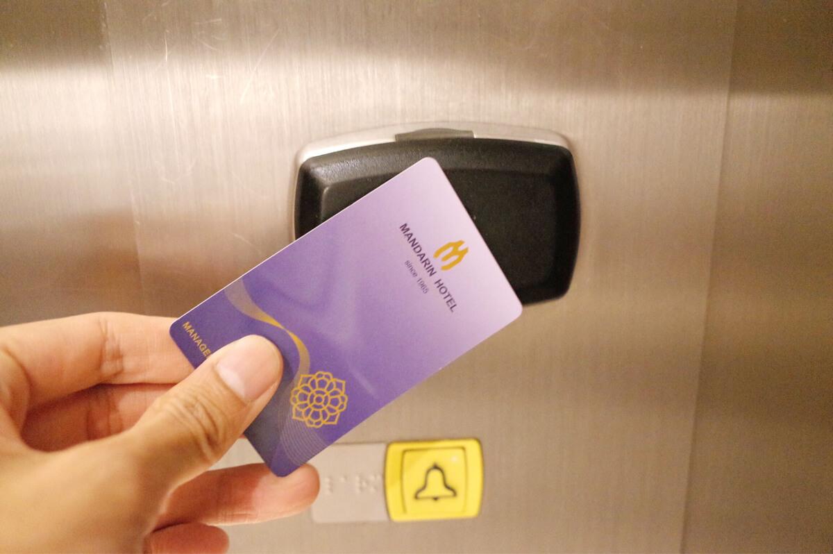 バンコク マンダリンホテル エレベーター