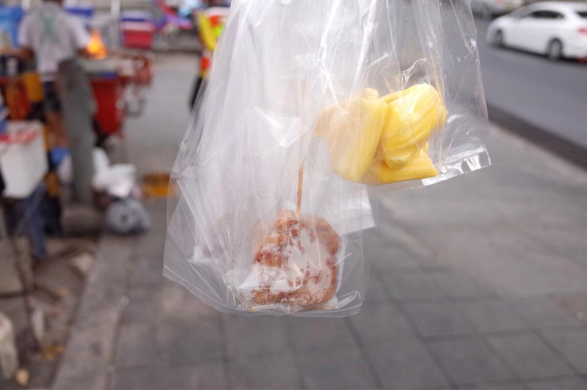 バンコク サムヤン駅 朝食