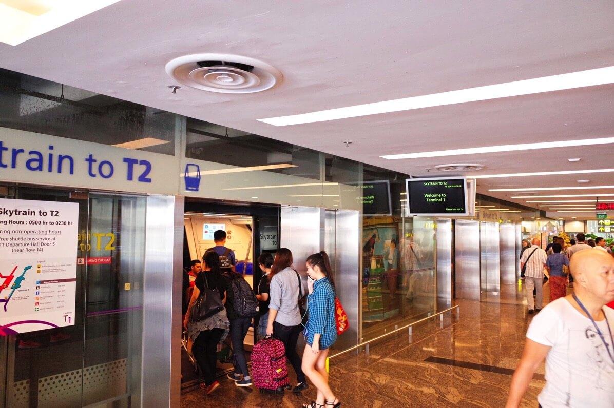 シンガポール チャンギ国際空港 スカイトレイン
