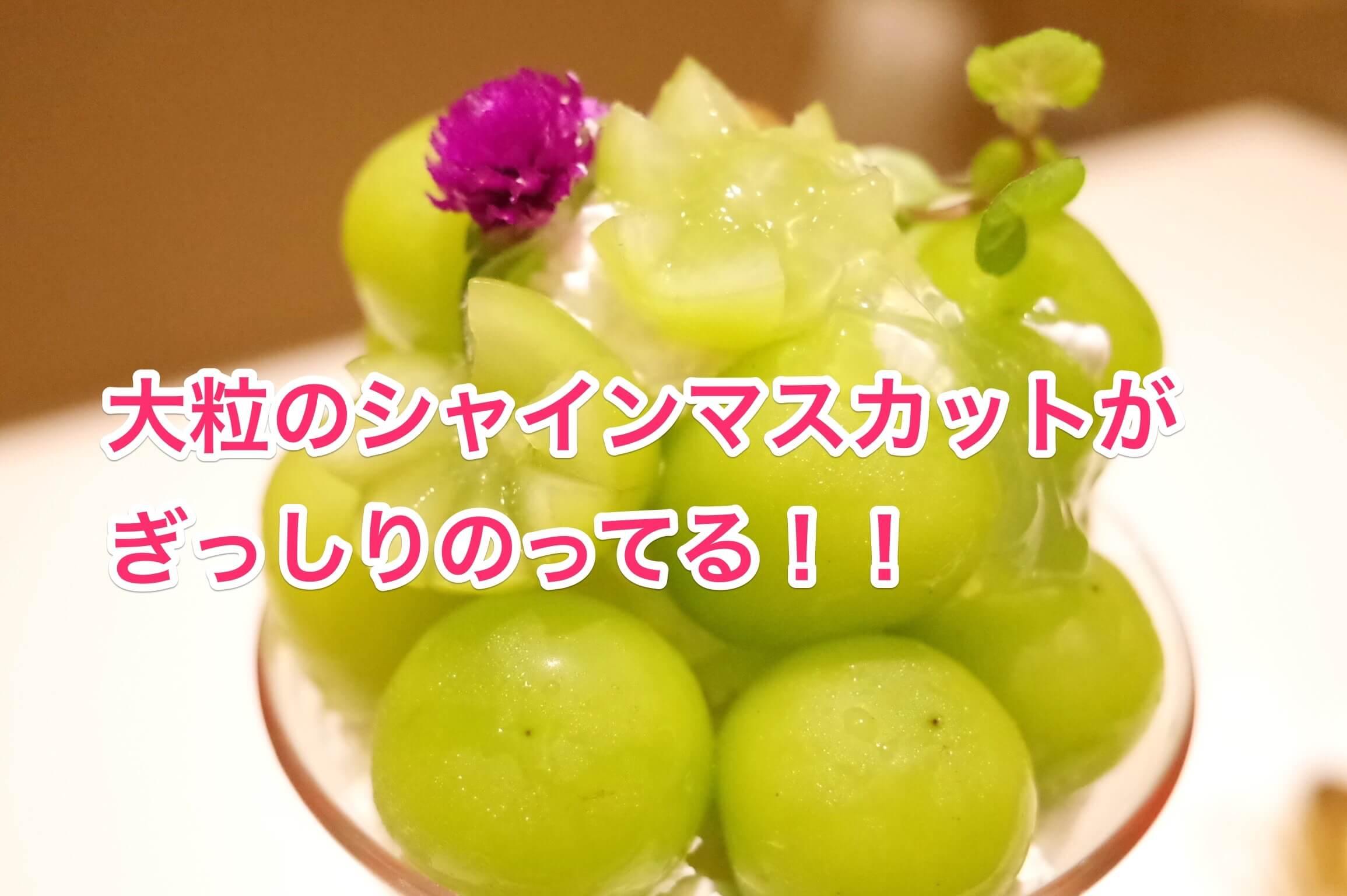 西村フルーツパーラー 〜 特選シャインマスカットパフェで秋の味覚堪能!大粒の葡萄がたっぷりで食べ応えあり