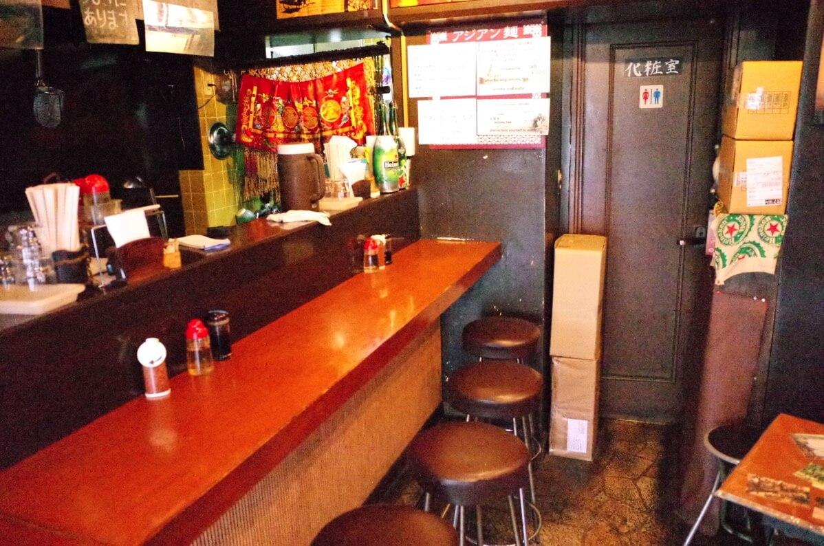 アジアン麺  西新宿5丁目 カウンター