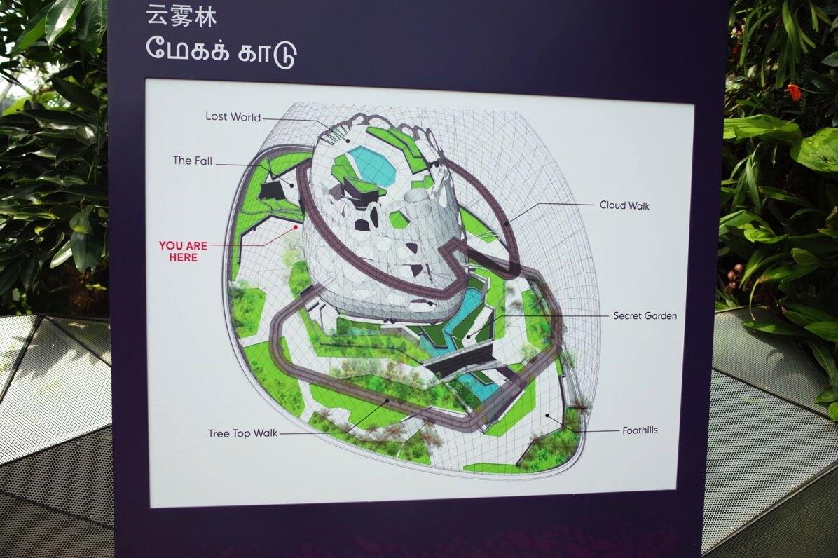 ガーデンズ・バイ・ザ・ベイ クラウドフォレスト マップ