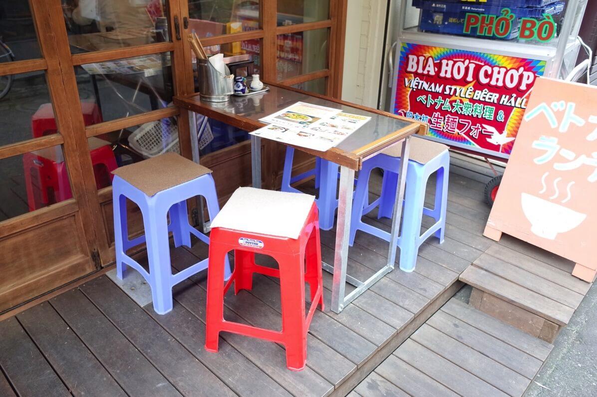 ビアホイチョップ 中野 ベトナム椅子