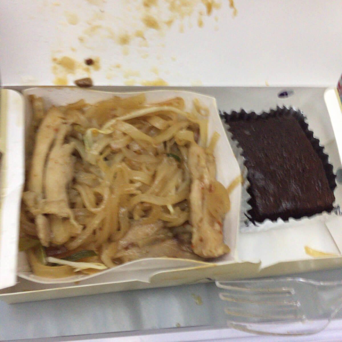 バンコク タイエアライン 機内食