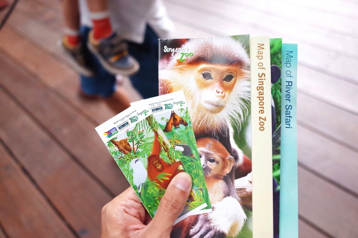 シンガポール動物園 パンフレット