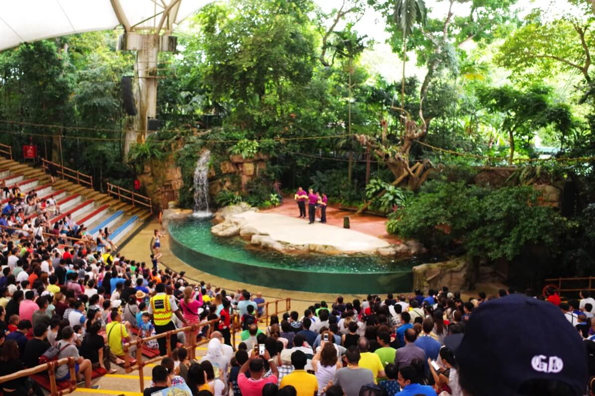 シンガポール動物園 Rainforest Fights Back Show