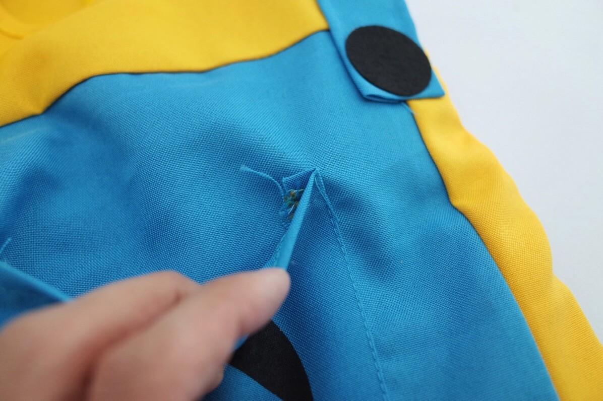 ミニミンズコスプレセット つなぎ 縫い目