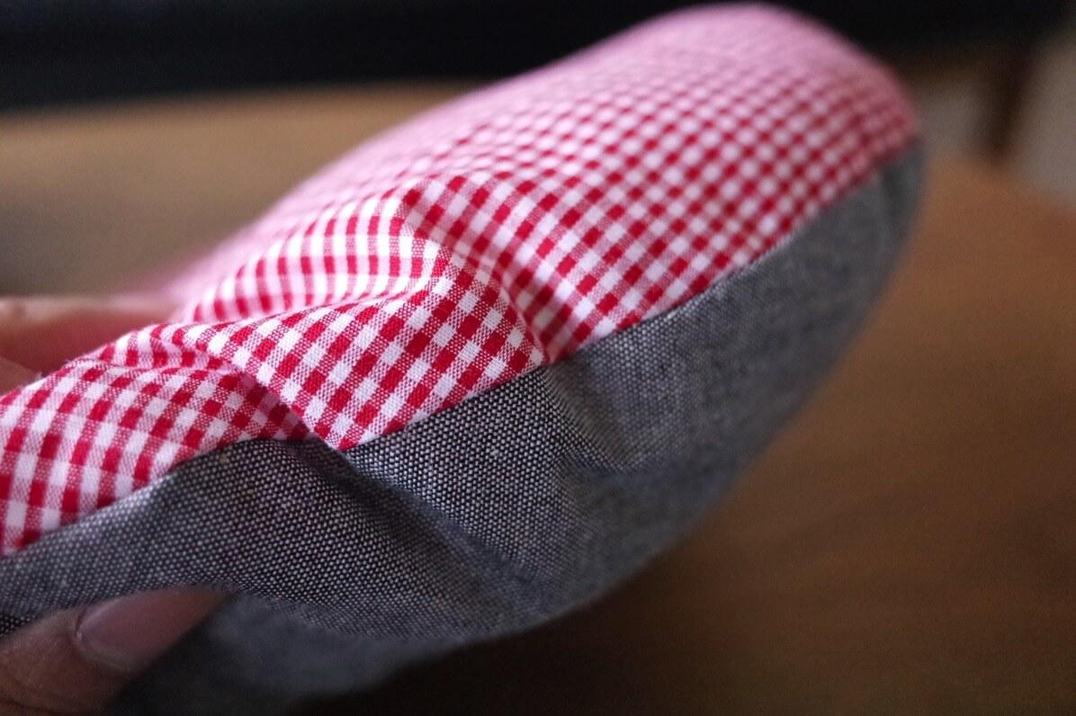 鍋帽子 購入 通販 座布団厚み確認