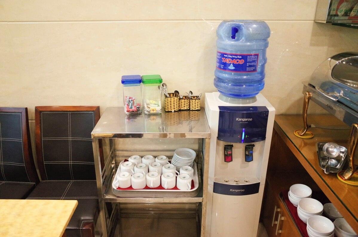 ホアン・プオン・ホテルの朝食ドリンク