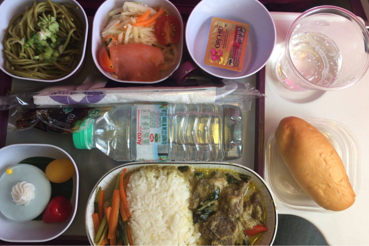タイ航空 機内食 TG660