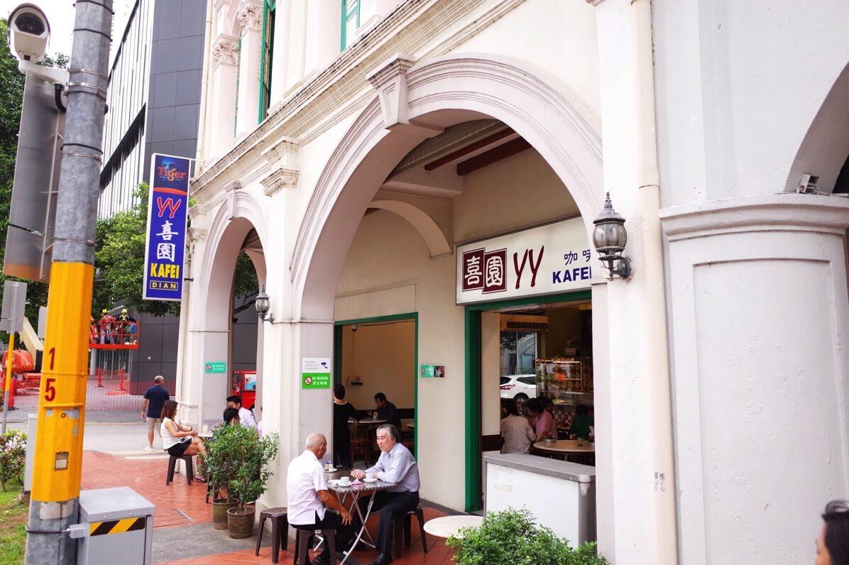 喜園咖啡店の外観