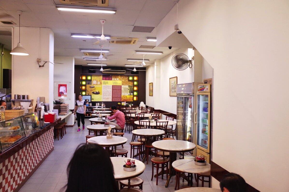喜園咖啡店の店内