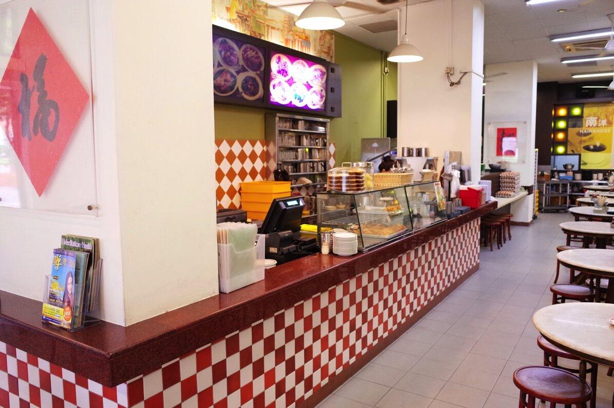 喜園咖啡店のカウンター