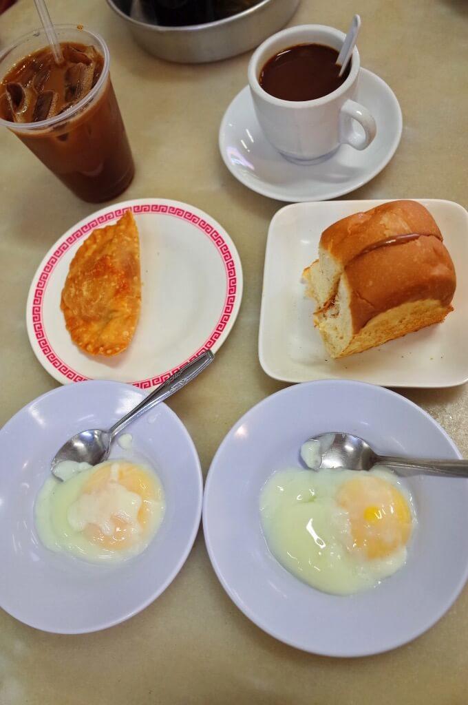 喜園咖啡店の朝食