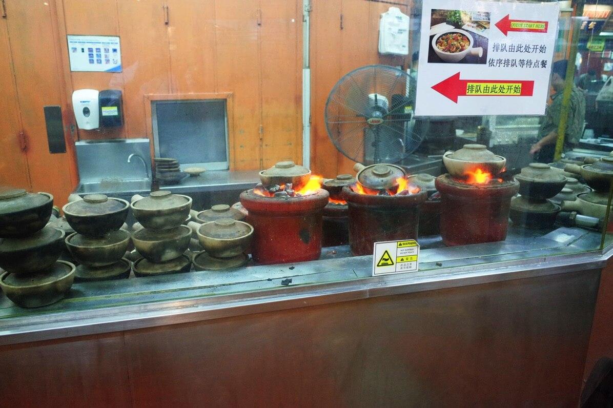 マレーシアン・フードコートの土鍋ご飯
