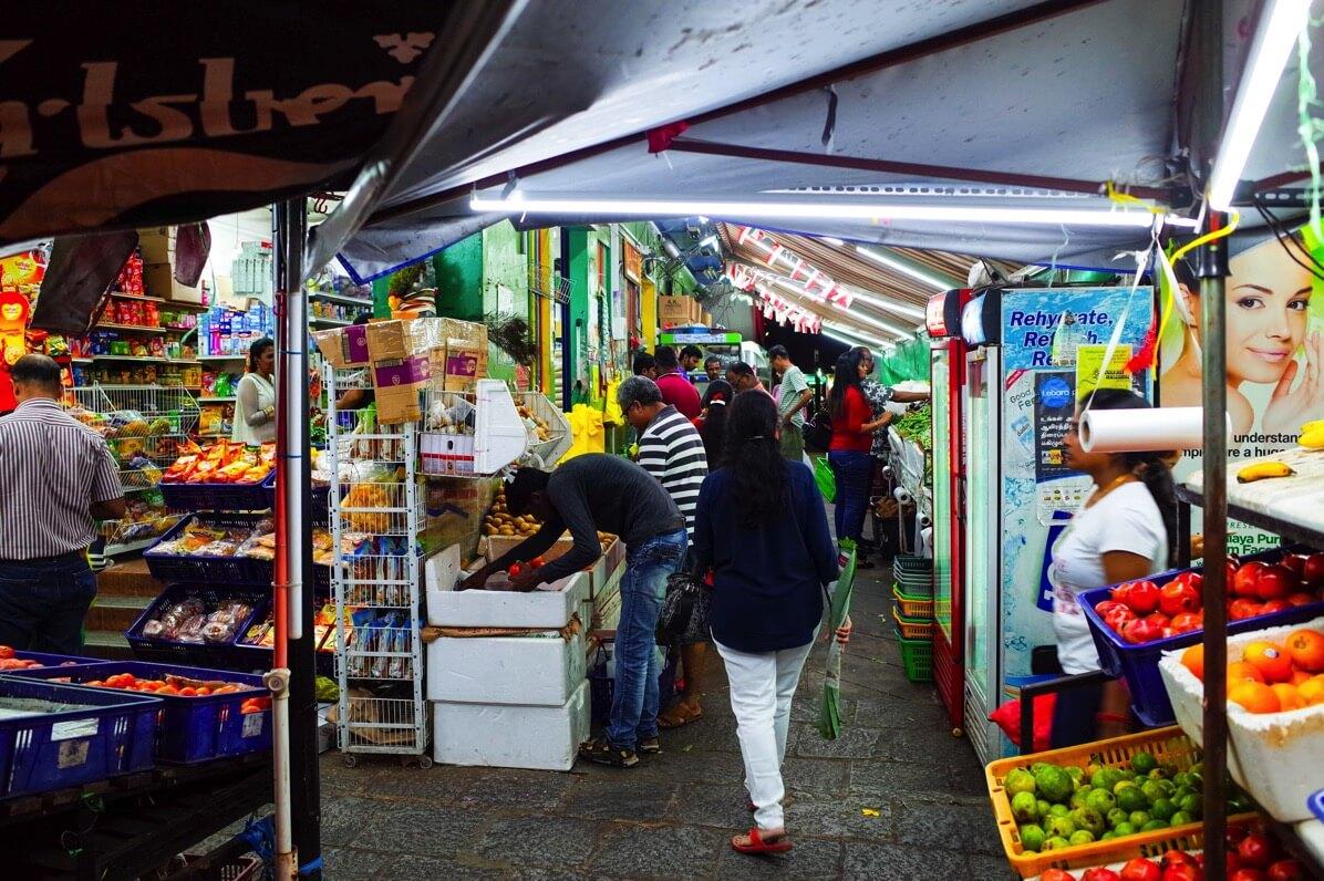 リトルインディアのマーケット