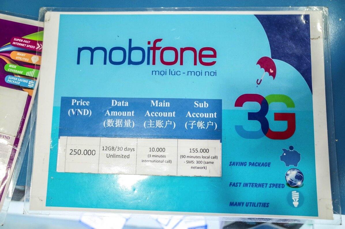 mobifoneの料金プラン
