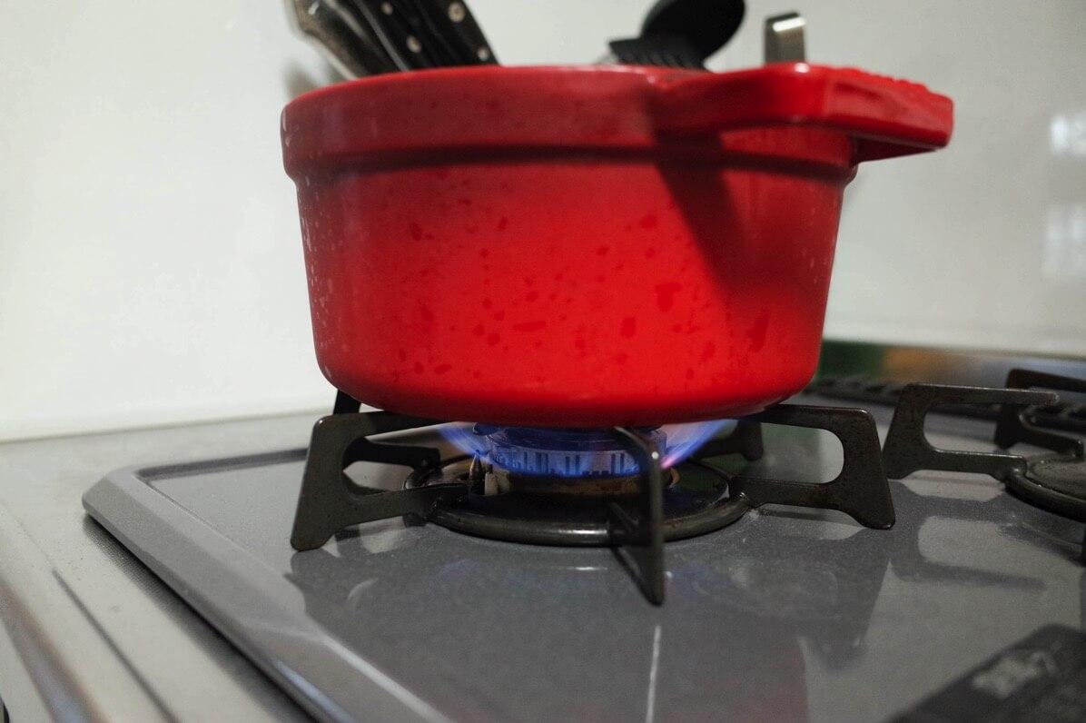 中強火で煮る