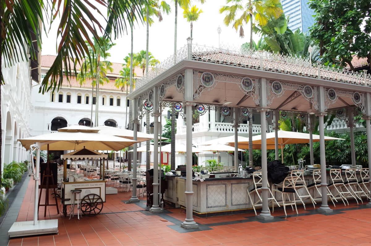 ラッフルズホテル 庭園カフェ