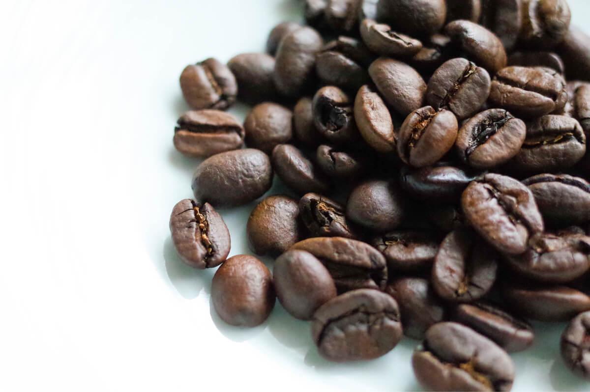 コーヒー豆の接写