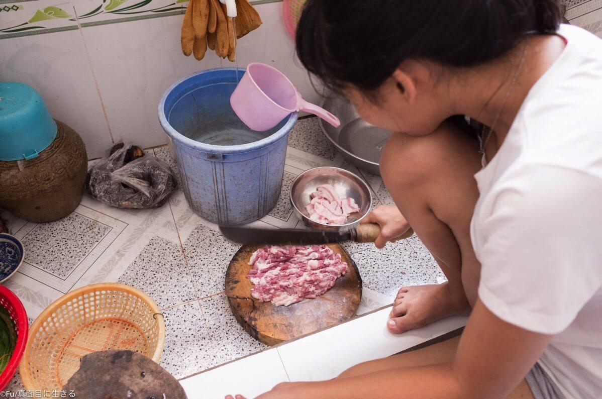 ベトナムスタイルのキッチン