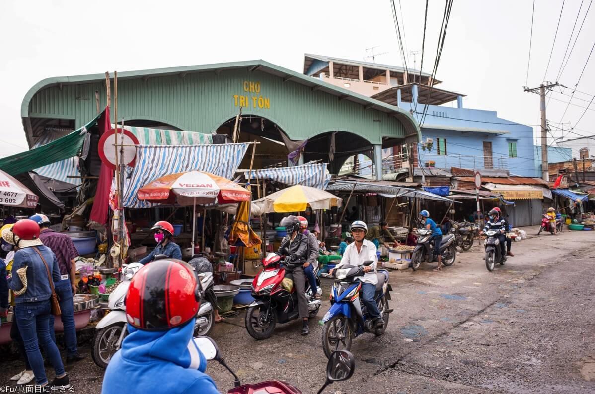 ダウンタウンの市場