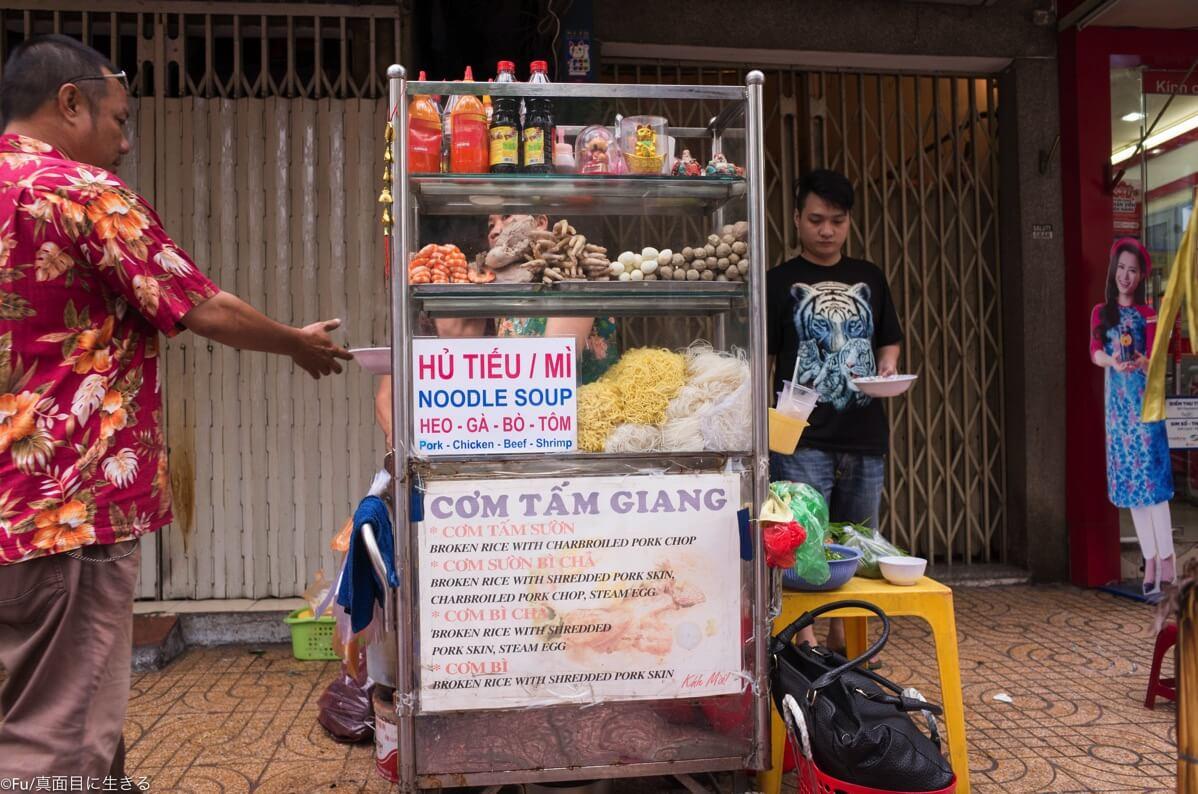 麺料理の露店