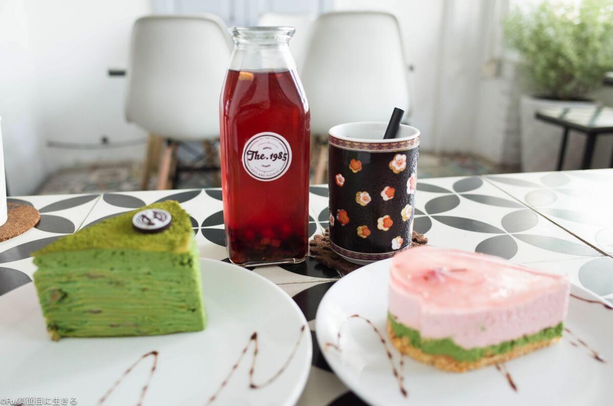 抹茶ミルクレープ 桜チーズケーキ