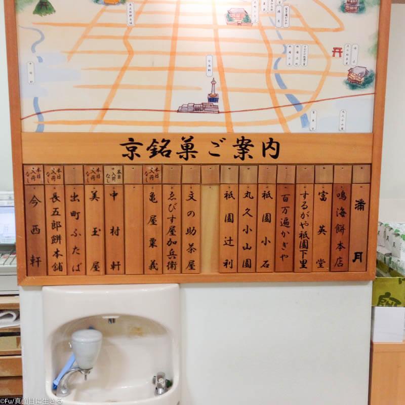 入荷している和菓子のラインナップ
