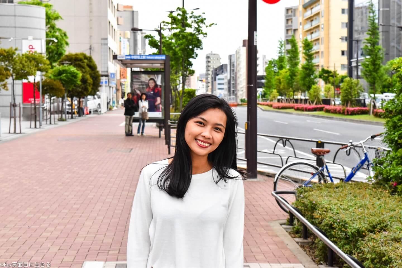 中野坂上で嫁を撮影