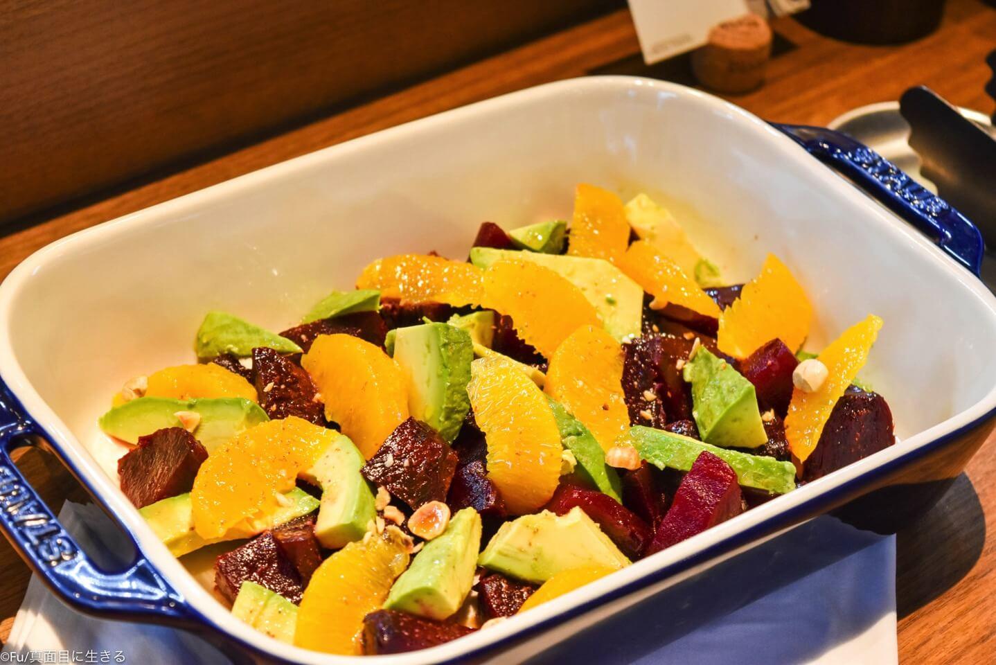 ビーツとオレンジのサラダ