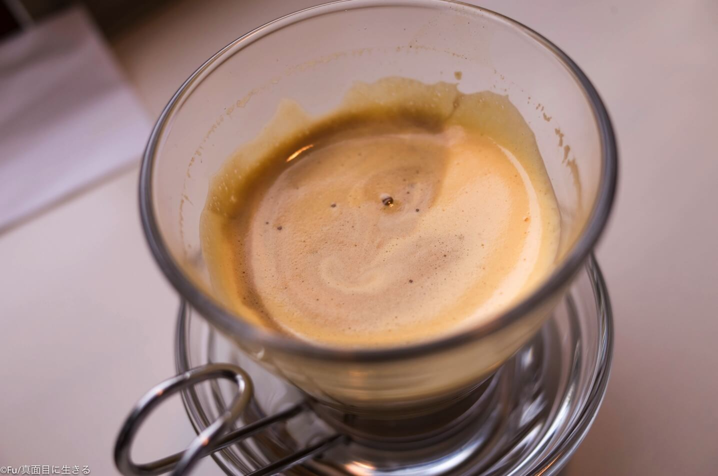 エッグコーヒー混ぜた
