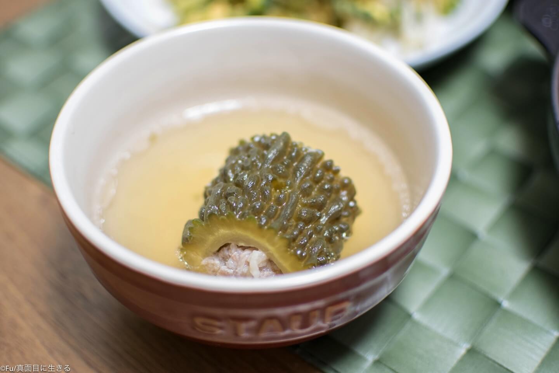 ゴーヤの肉詰めスープ