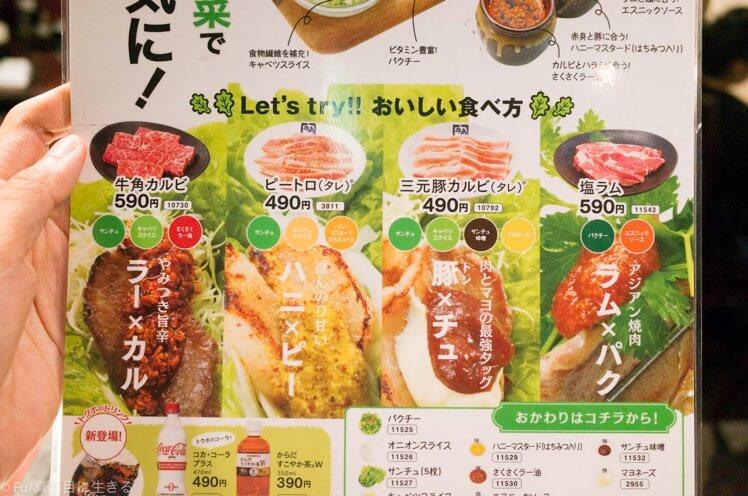 野菜と肉のアレンジ