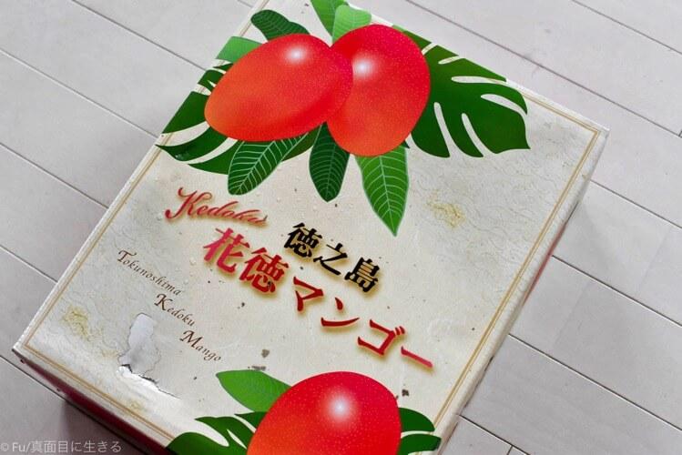 花徳マンゴーの箱