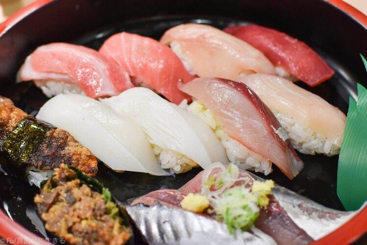 食事券で交換した寿司